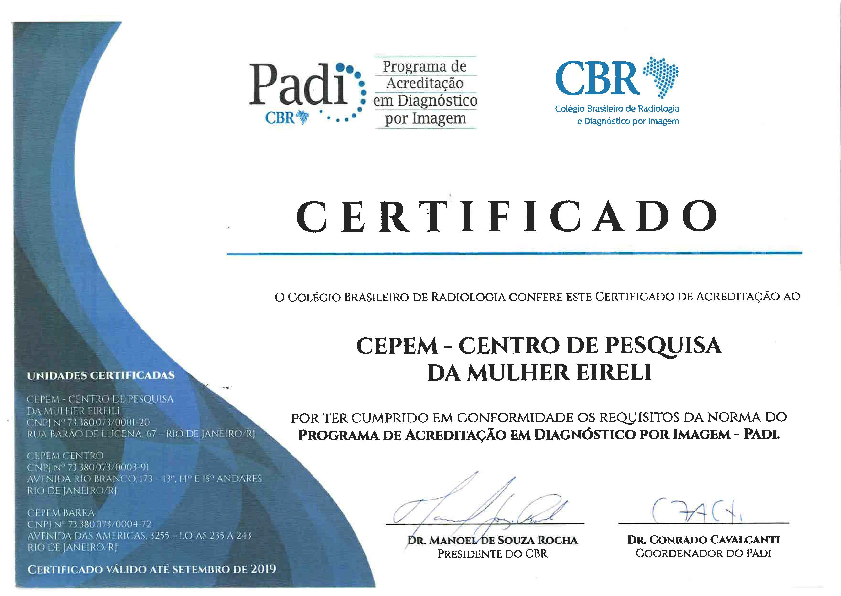 Certificado PADI 2018
