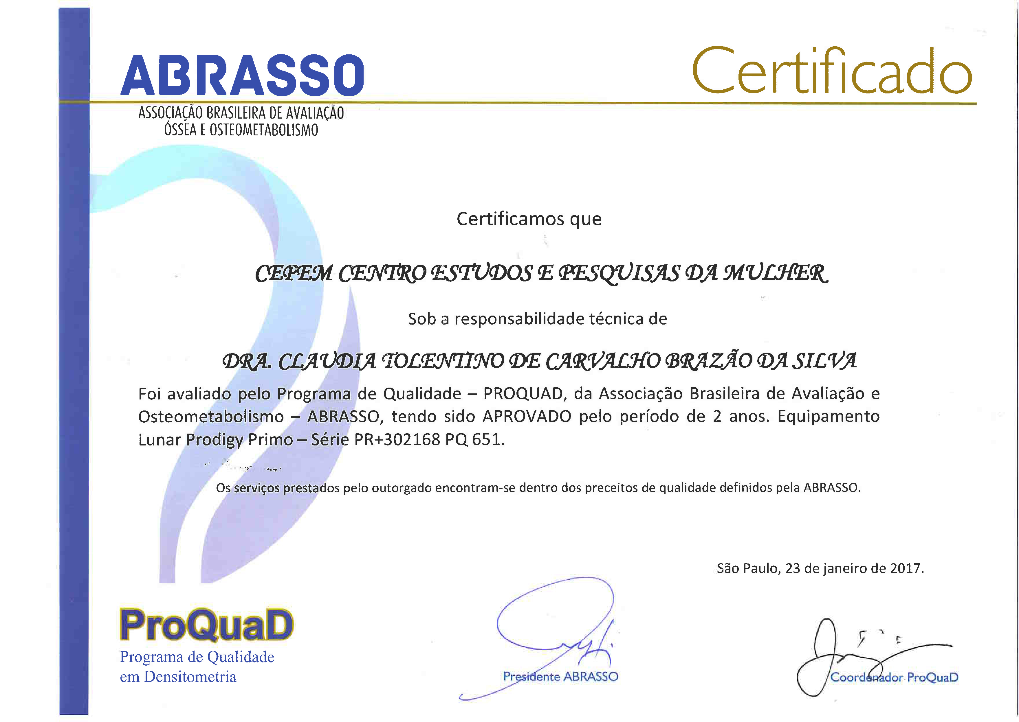 PROQUAD Certificado Lunar Prodigy Validade 23 01 2019 (Botafogo)