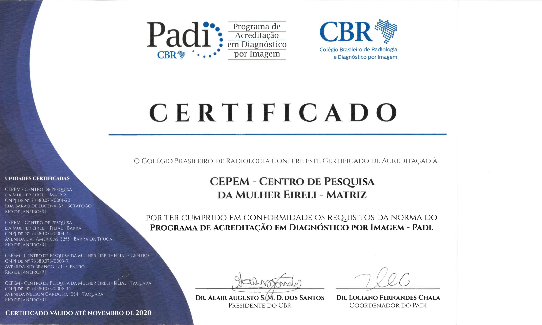 certificado padi